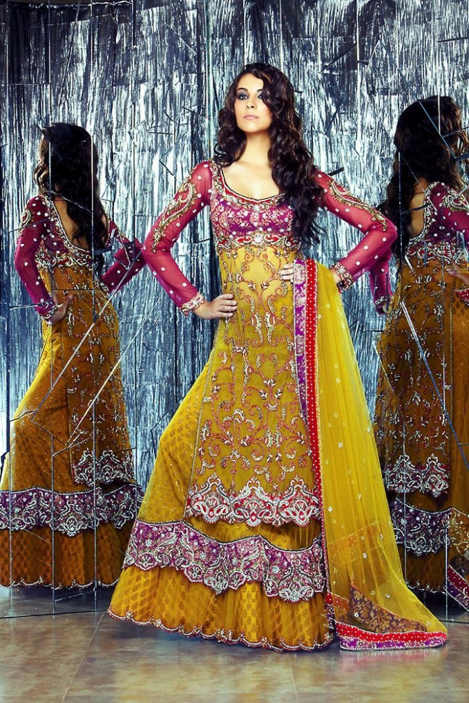 10 best Mehndi Ubtan Mayoon Dresses images on Pinterest ...