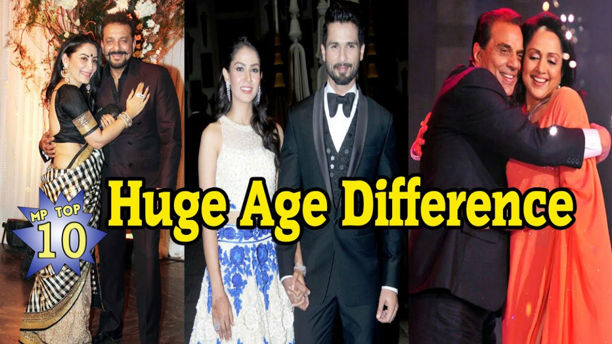 10 Bollywood Couples With Huge Age Difference - YouTube