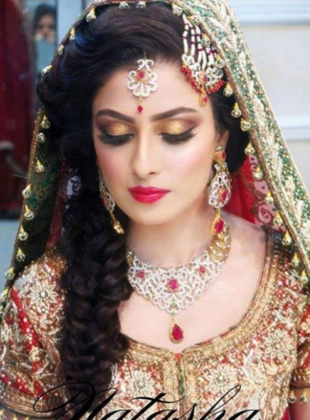 10 Indian Bridal Hairstyles for wedding, Reception etc ..
