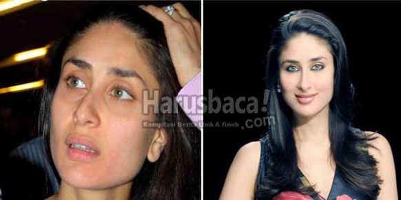 15 Wajah Asli Artis Bollywood Tanpa Make Up | HarusBaca.com