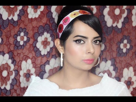 1960's Bollywood Retro Makeup Tutorial - YouTube