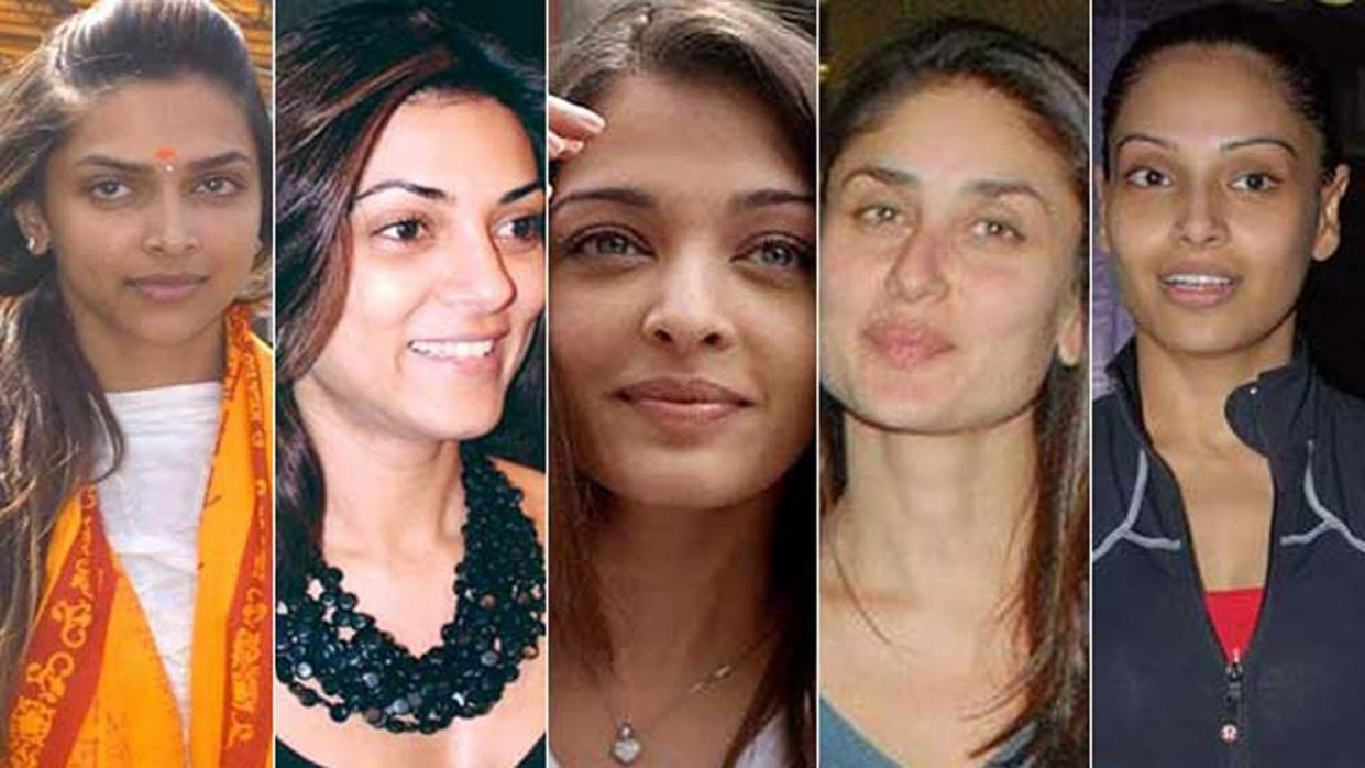 20 Bollywood Actresses With And Without Makeup - YouTube