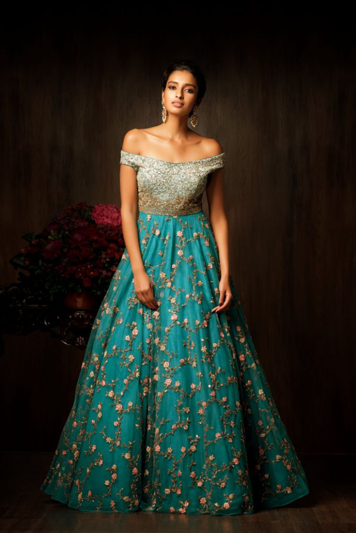 25+ best ideas about Indian gowns on Pinterest | Indian ...