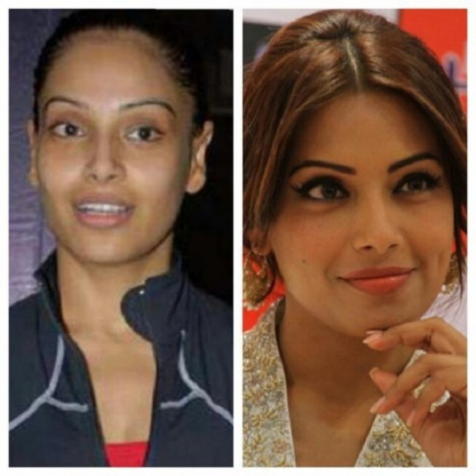 25 Hot Bollywood Actresses With & Without Make Up!!