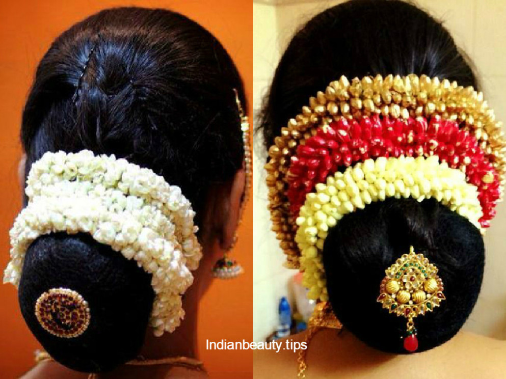 30 Elegant Bridal Updo Hairstyles - Indian Beauty Tips - indian bridal bun hairstyles