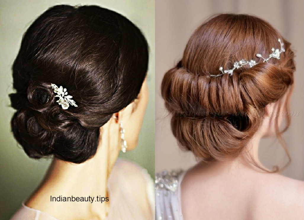 30 Elegant Bridal Updo Hairstyles - Indian Beauty Tips - indian bridal updo
