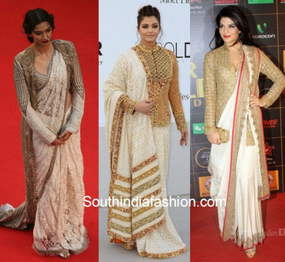 6 Ways of using a 'Jacket Blouse' to style your saree ...