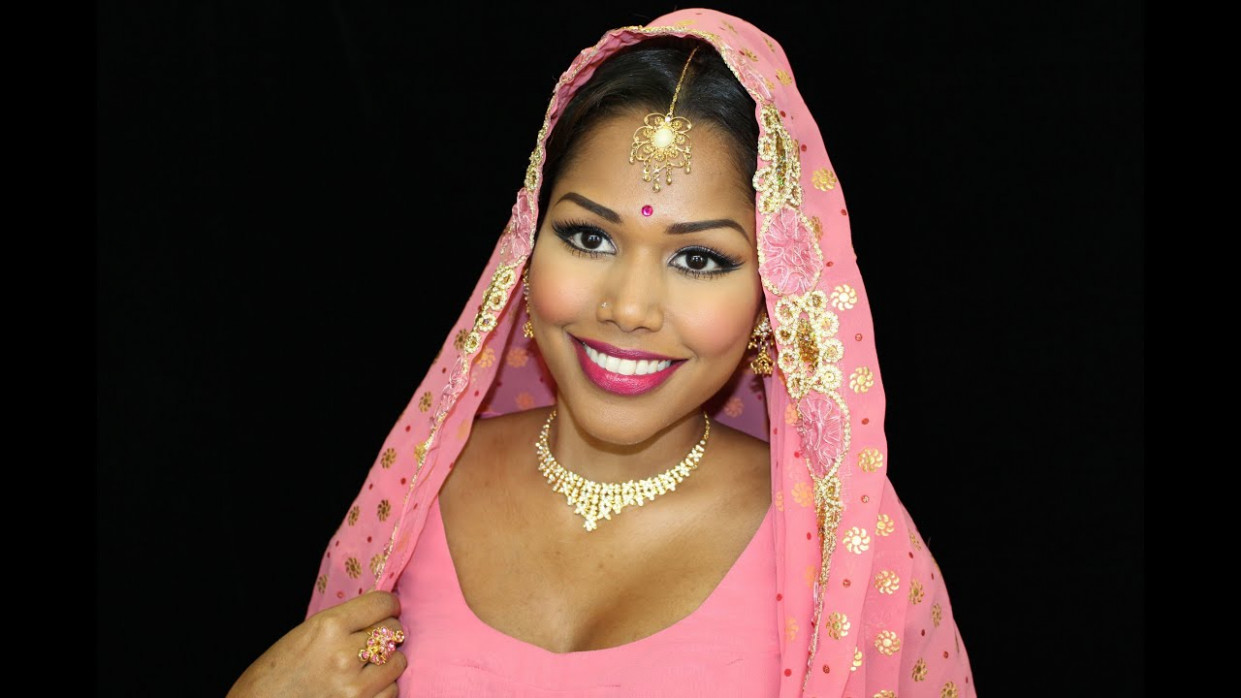 60s & 70s Inspired Indian/Bollywood bridal makeup - YouTube