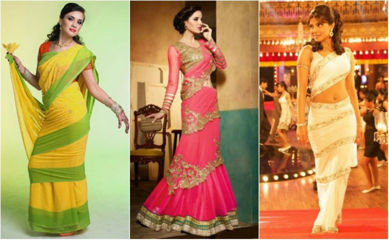 7 Charming Saree Draping Styles for Party ...