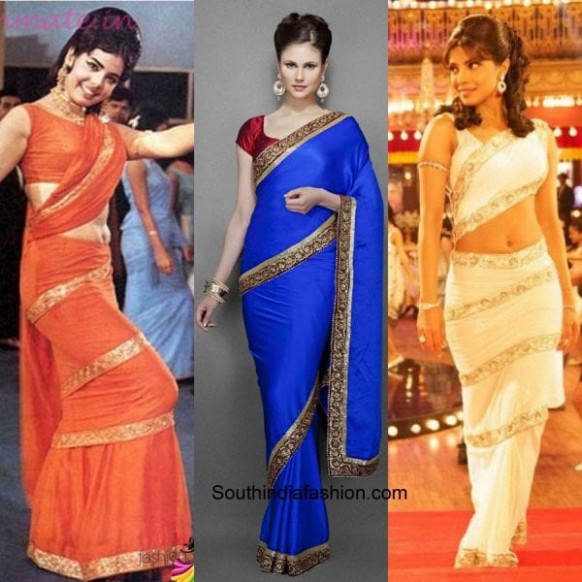 7 Gorgeous Saree Pallu Drapes Style – South India Fashion