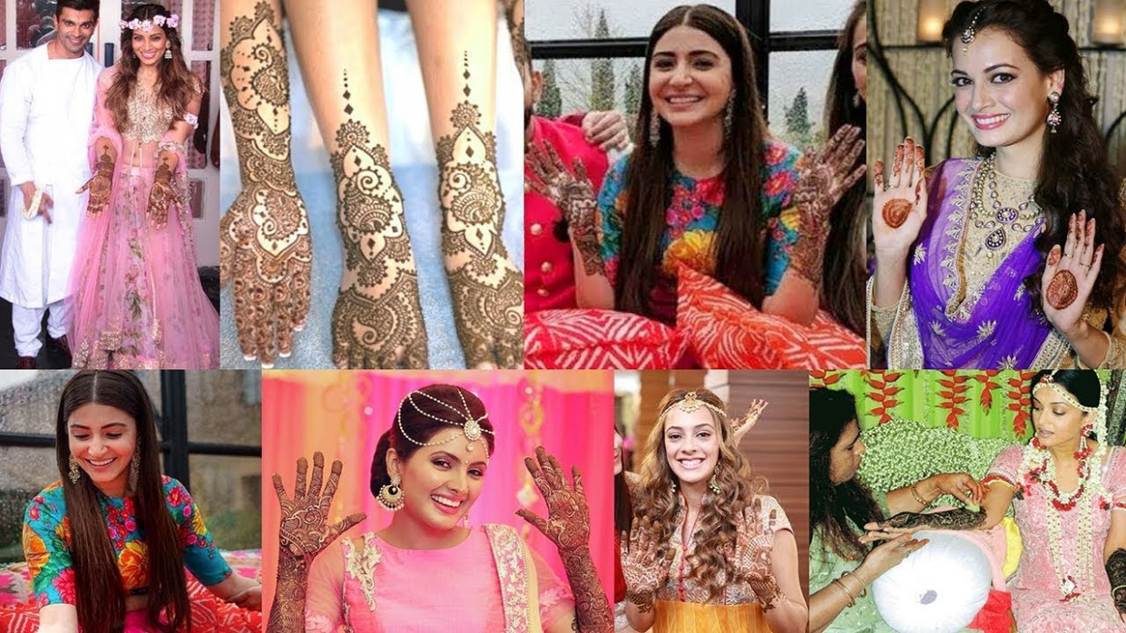 8 Bollywood Divas & Their Bridal Mehndi Designs | Anushka ...