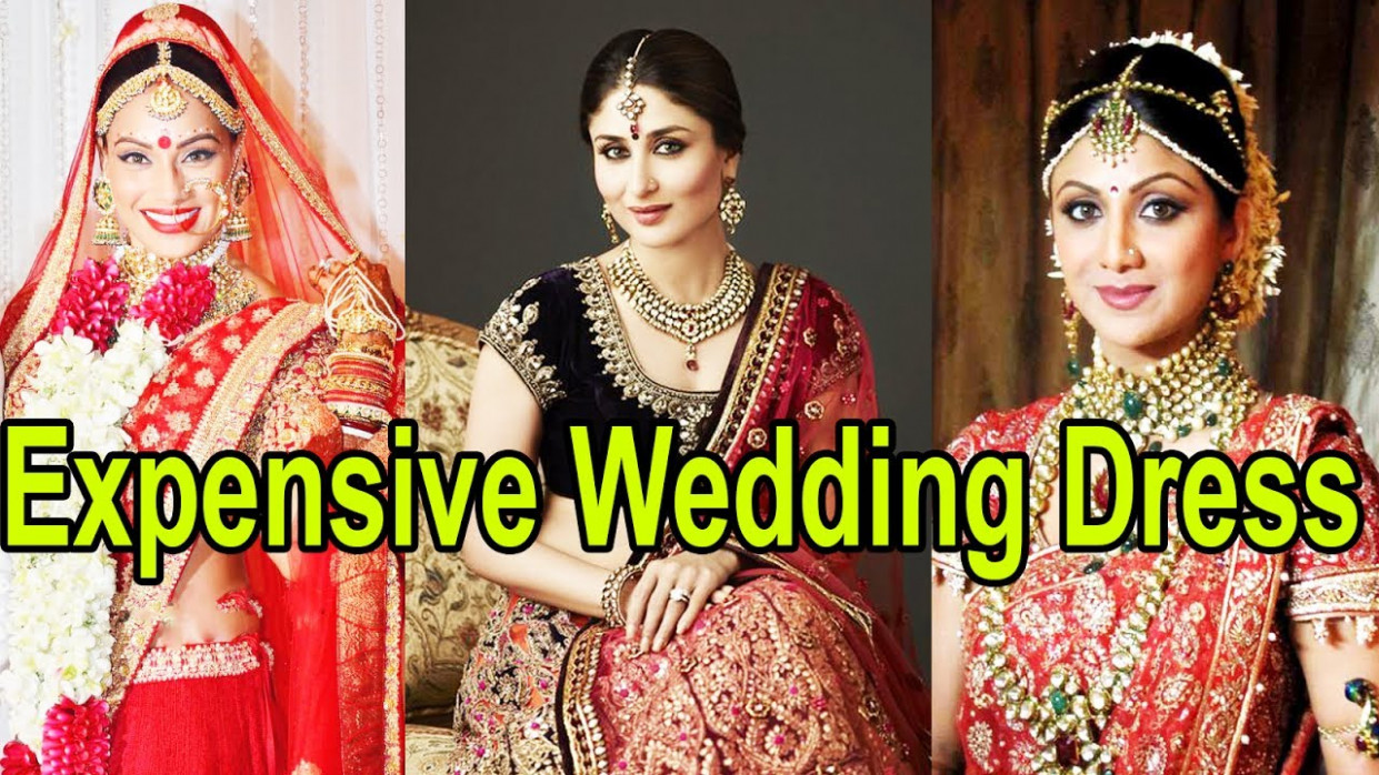 8 Most Expensive Wedding Dresses Of Bollywood Actresses ...