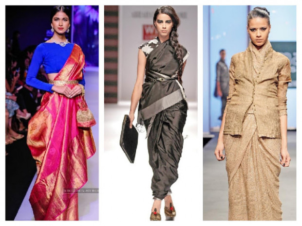 85 Modern Saree Draping Styles || How To Wear Saree In An ...