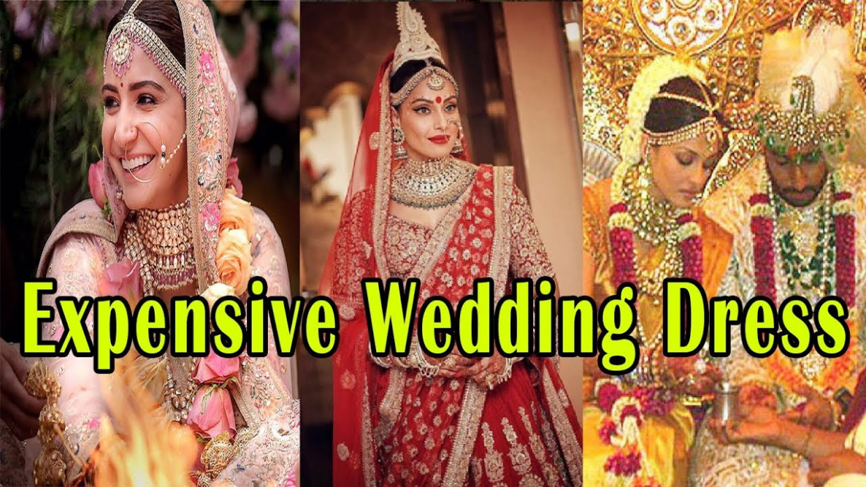 9 Beautiful Expensive Wedding Dresses Of Bollywood ...