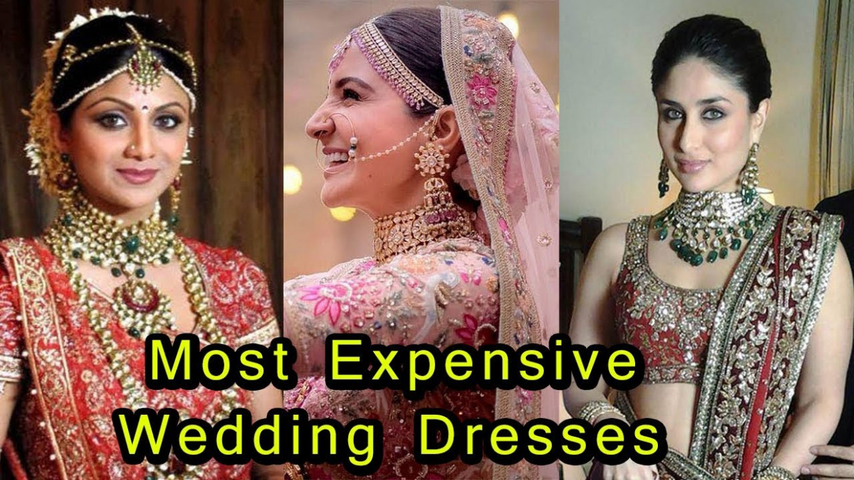 9 Most Expensive Wedding Dresses Of Bollywood Actress ...