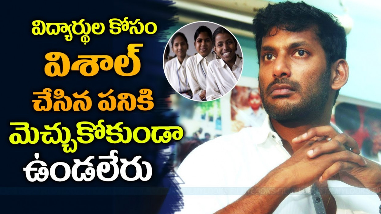 Actor Vishal Charity Work | TOLLYWOOD Actor Vishal's ...