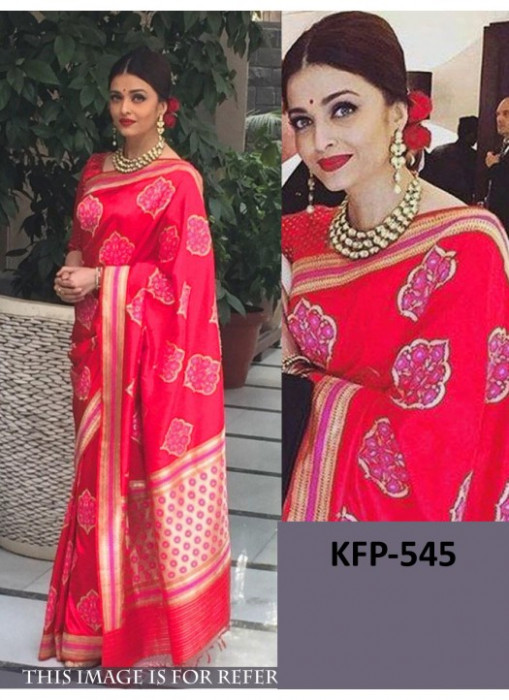 Aishwarya Red Georgette Replica Saree At Delhi