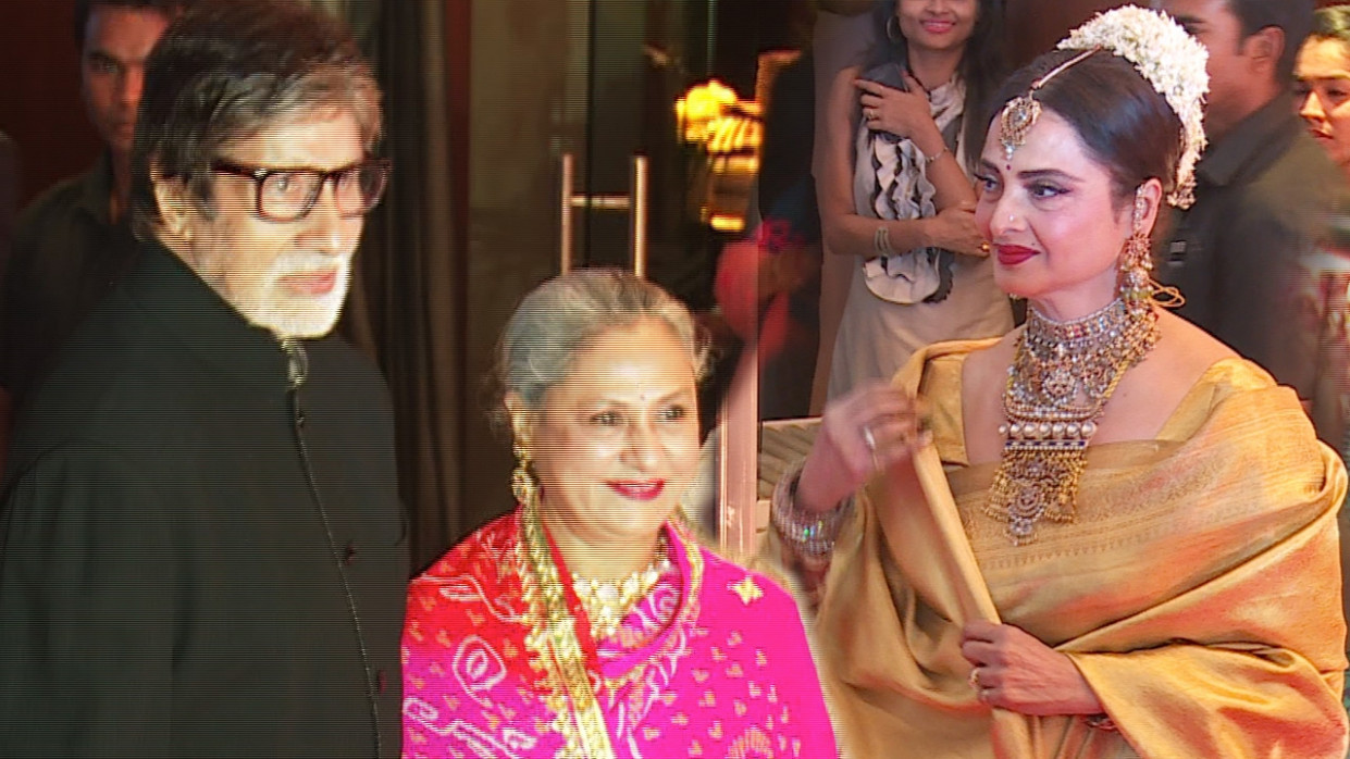 Amitabh Bachchan And Rekha At Neil Nitin Mukesh Wedding ...