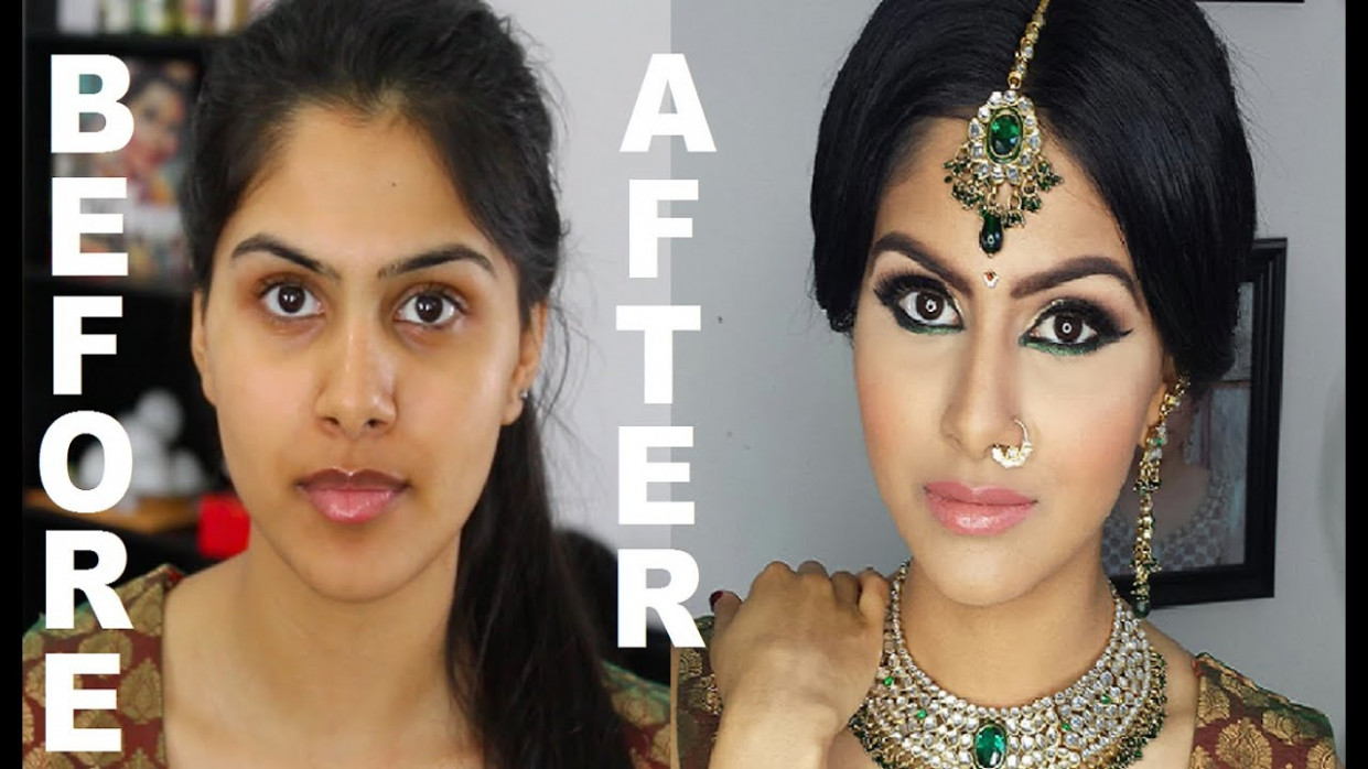 Asian Bridal Makeup Before And After | Saubhaya Makeup