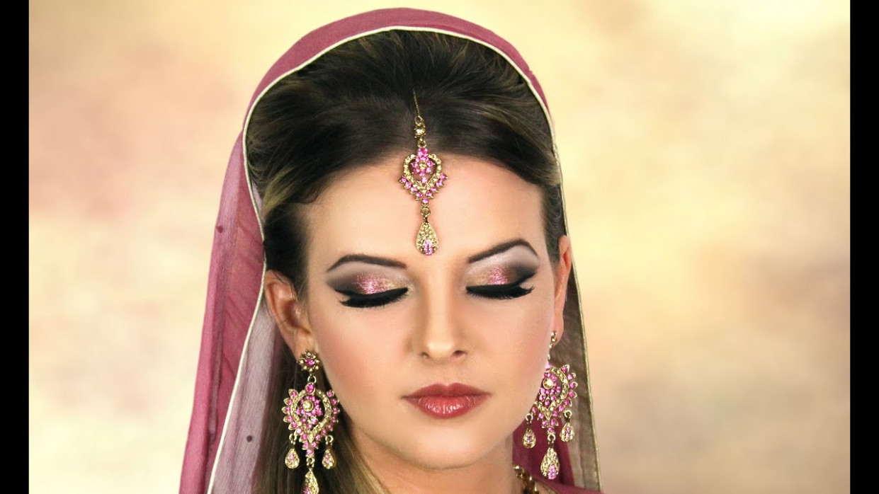 Asian/ Pakistani/ Indian/ Arabic Bridal Makeup - Pink and ..