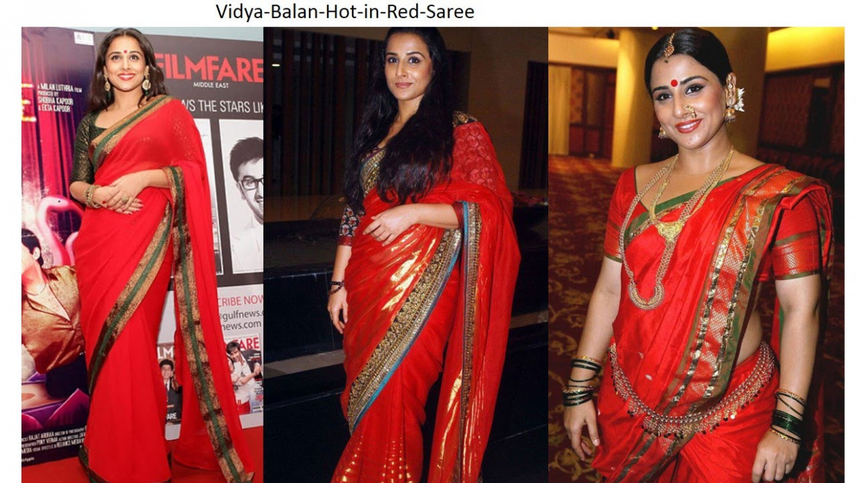 Beautiful India Bollywood Actress Looking Hot in Red Saree ...