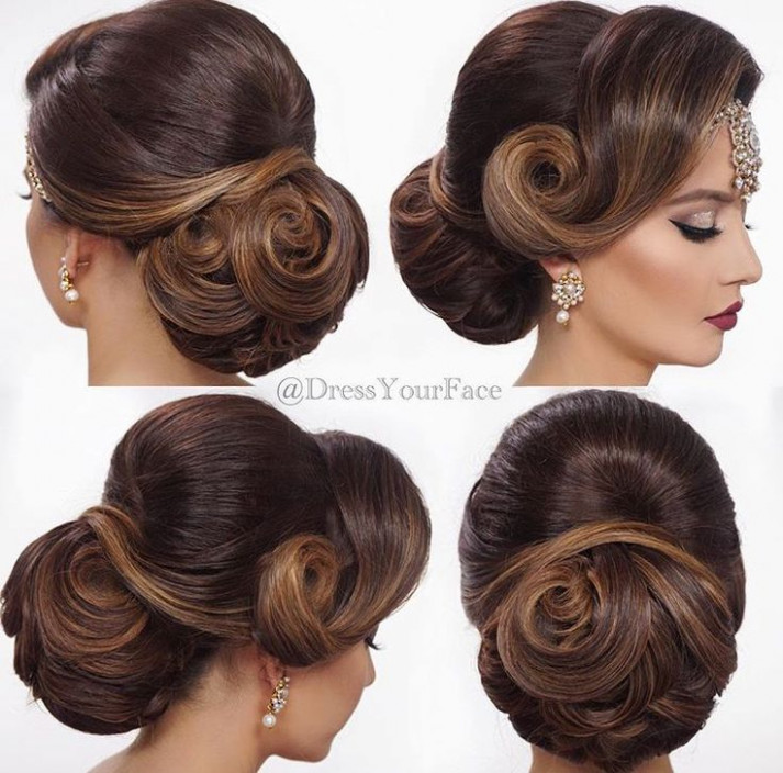 Best 25+ Indian wedding hairstyles ideas on Pinterest ...