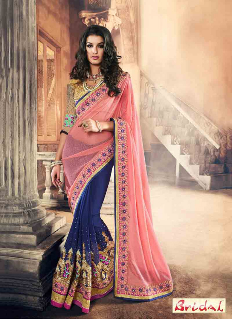 Best Indian Bridal Sarees 2017 New Saree Designs | FashionEven