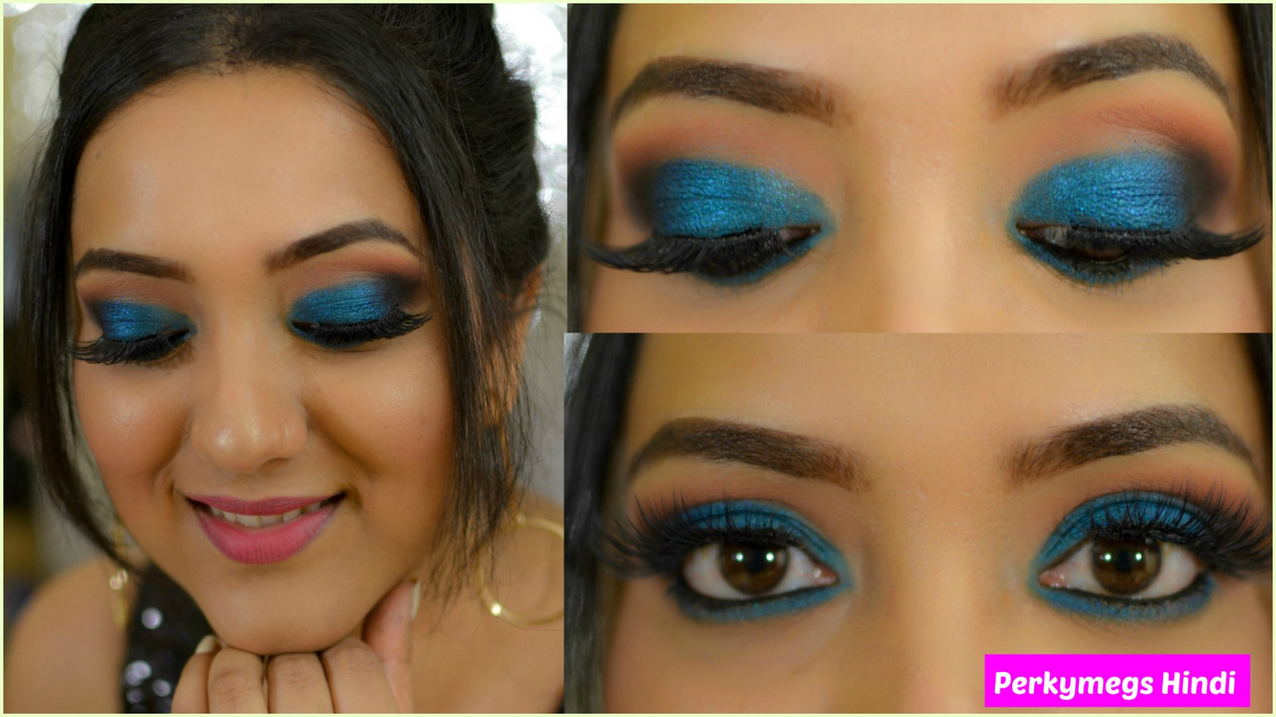 Blue Smokey Eye Makeup Tutorial for Indian Skin in Hindi ...