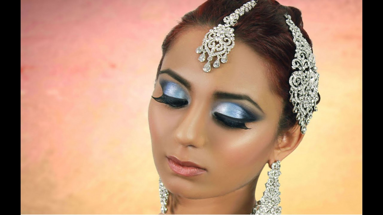 Blue Smokey Eye Makeup Tutorial- Indian Bridal / Asian ...