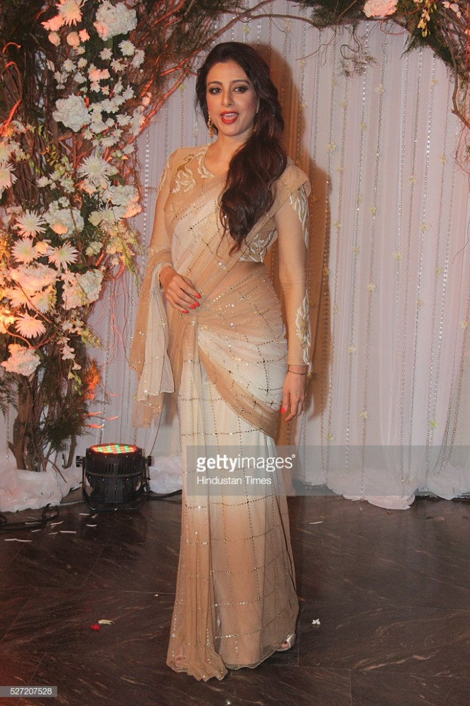 Bollywood actor Tabu at wedding reception of couple ...
