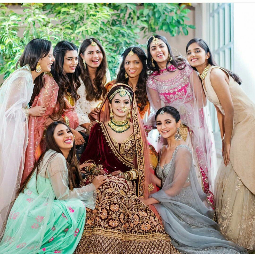 Bollywood actress Alia bhatt at her friends marriage ...