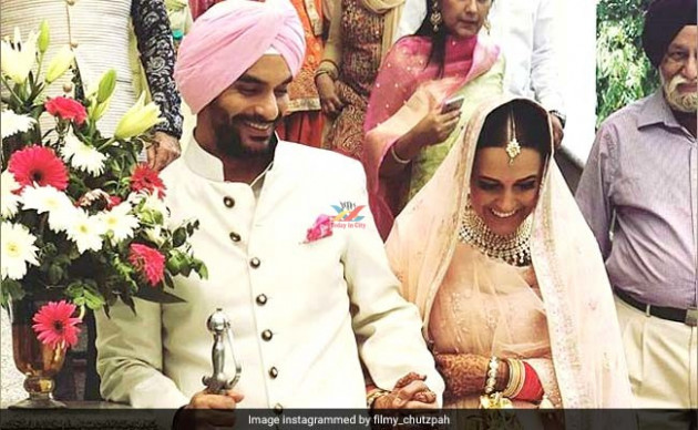 Bollywood Actress Neha Dhupia Wedding Pics | Marriage ...