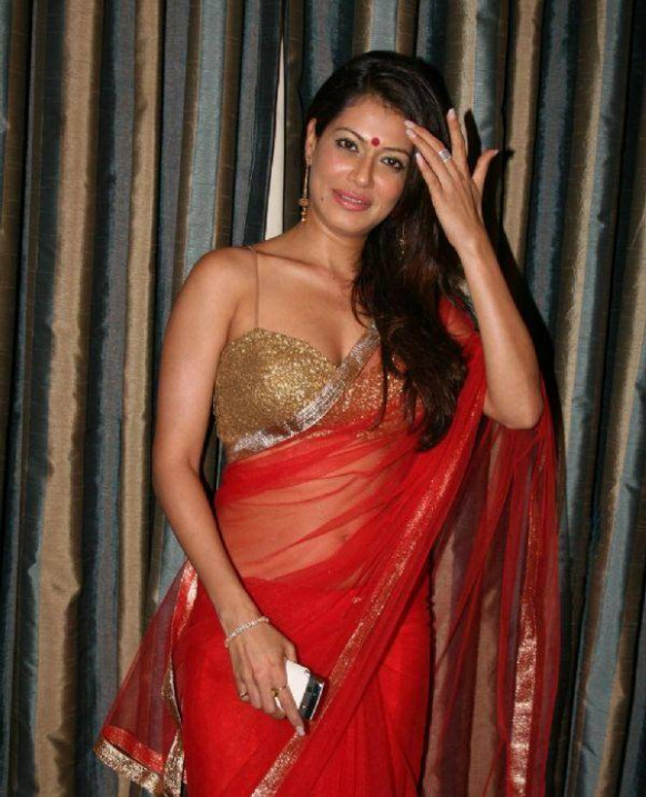 Bollywood Actress Payal Rohatgi in Red Saree Photos ...