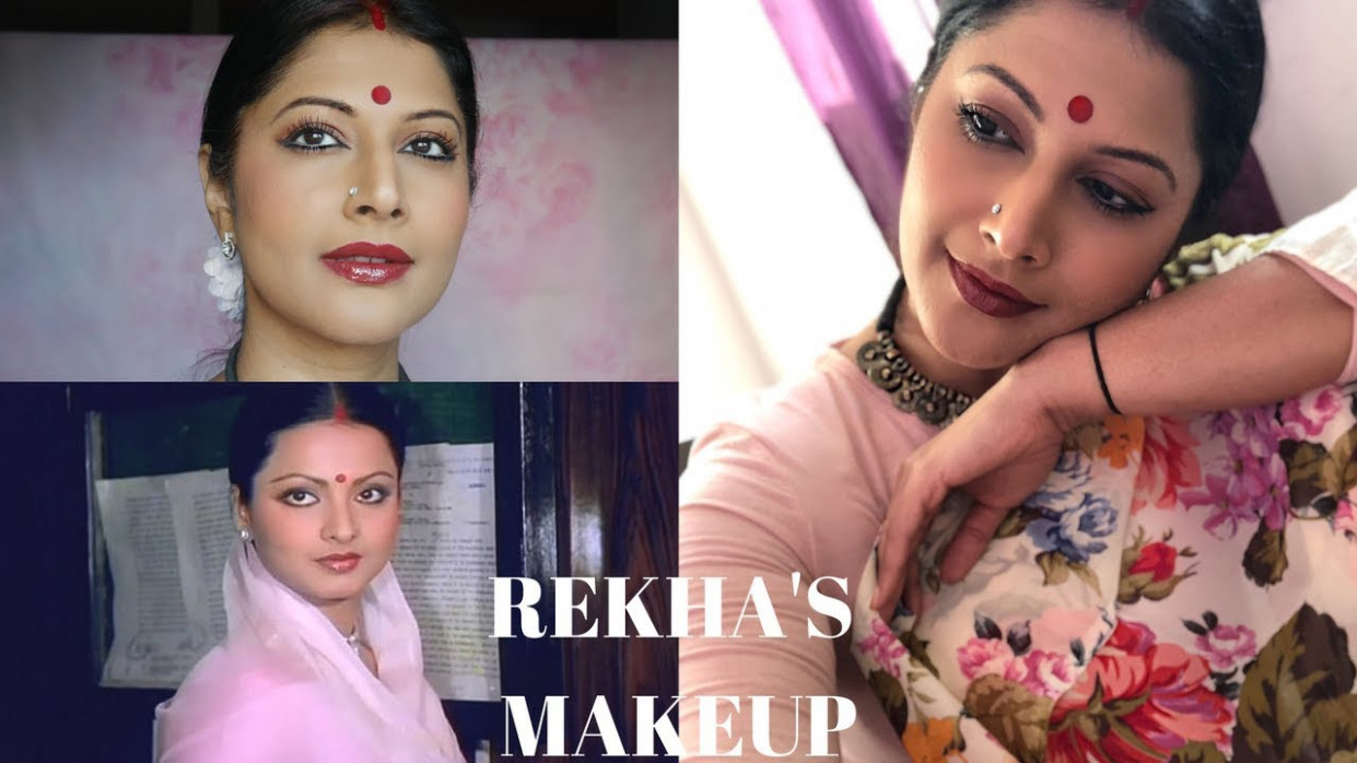 BOLLYWOOD ACTRESS REKHA MAKEUP TUTORIAL | DECODING 80'S ...