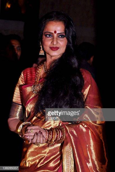 Bollywood Actress Rekha Stock Photos and Pictures | Getty ...