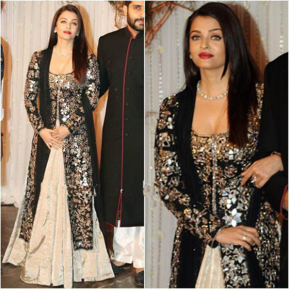 Bollywood Actress Saree Collections: Aishwarya Rai Black ...
