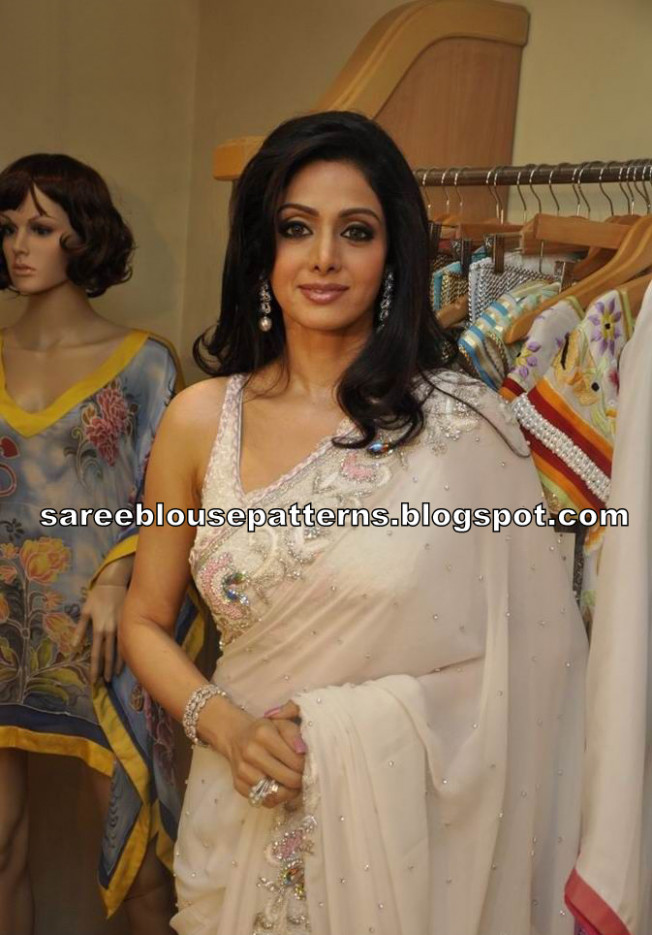 Bollywood Actress Sridevi in Transparent Saree - Saree ...
