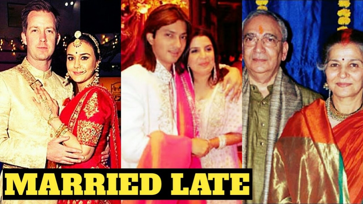 Bollywood Actresses Married Late