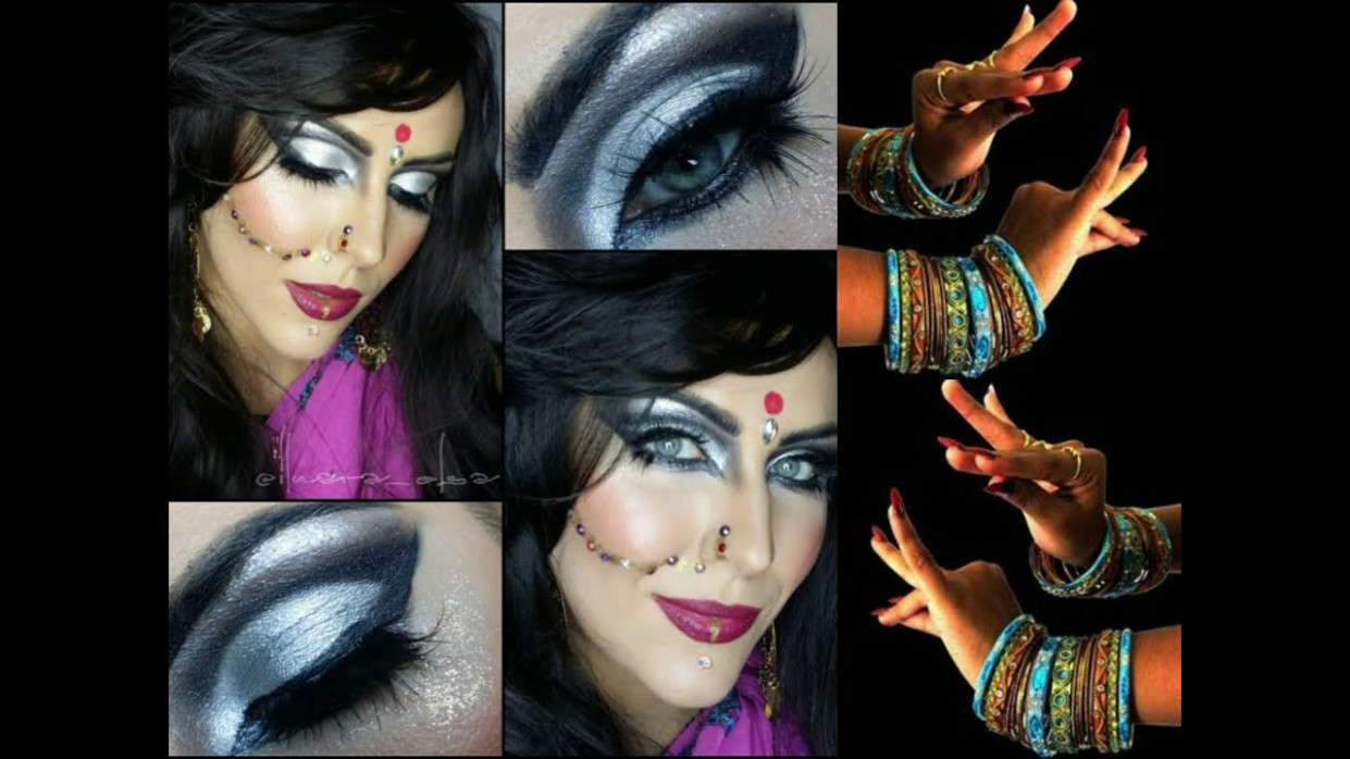 BOLLYWOOD / BELLY DANCE Makeup for HALLOWEEN - YouTube