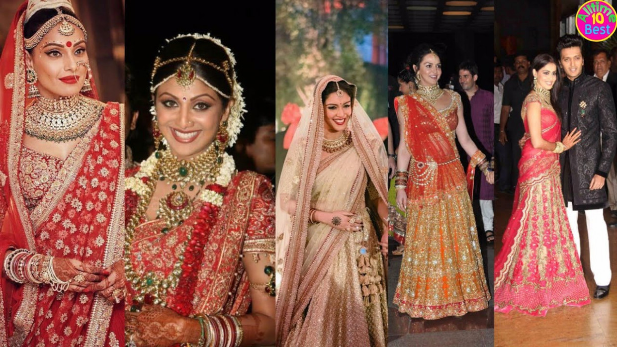 Bollywood Brides and their Stunning Wedding Day Look - YouTube