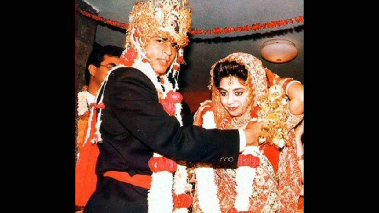 Bollywood celebrity Shahrukh Khan and Gauri Khan marrige ...