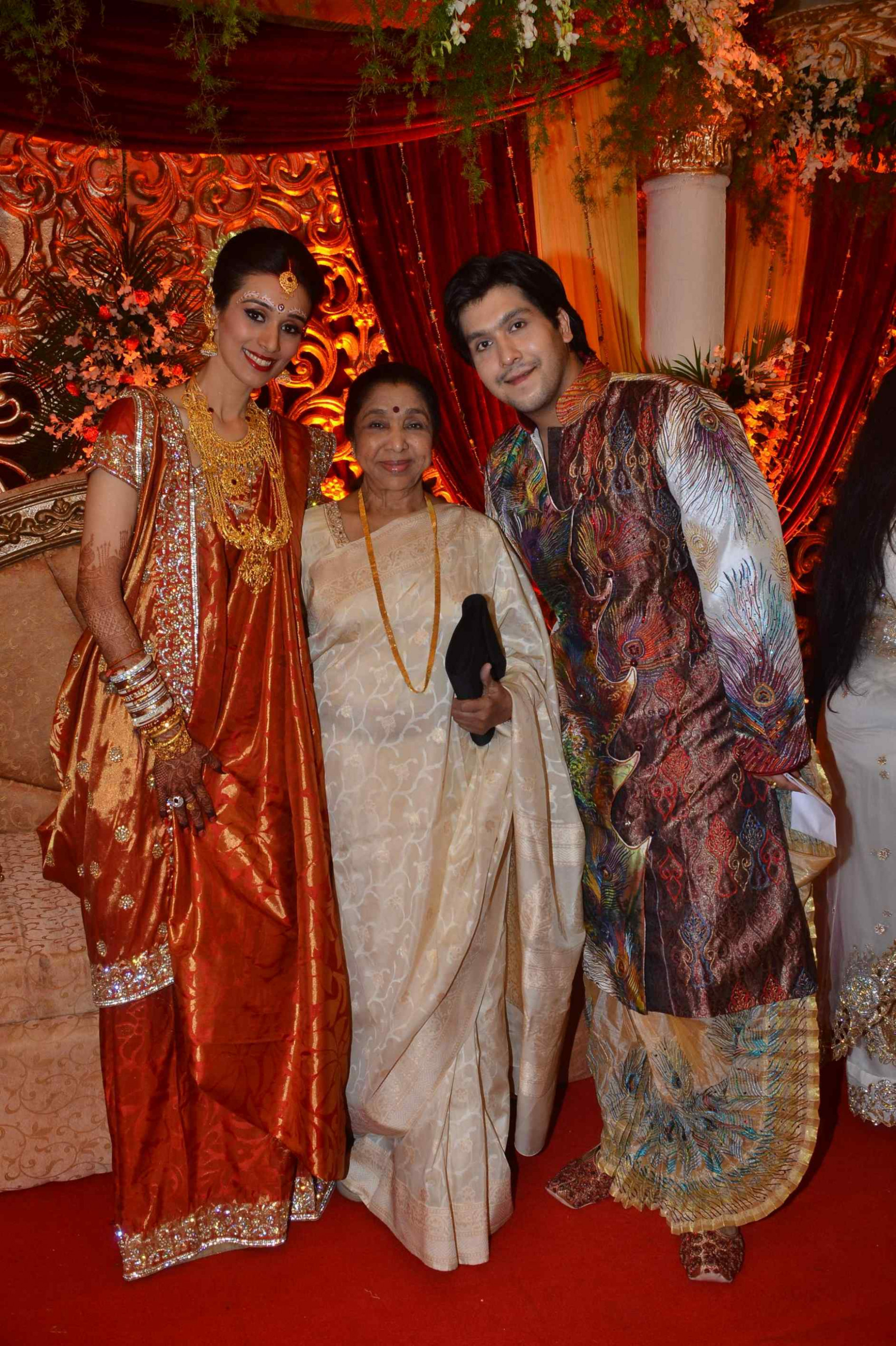 Bollywood Celebs at Bappi Lahiris Son Bappas Marriage ...