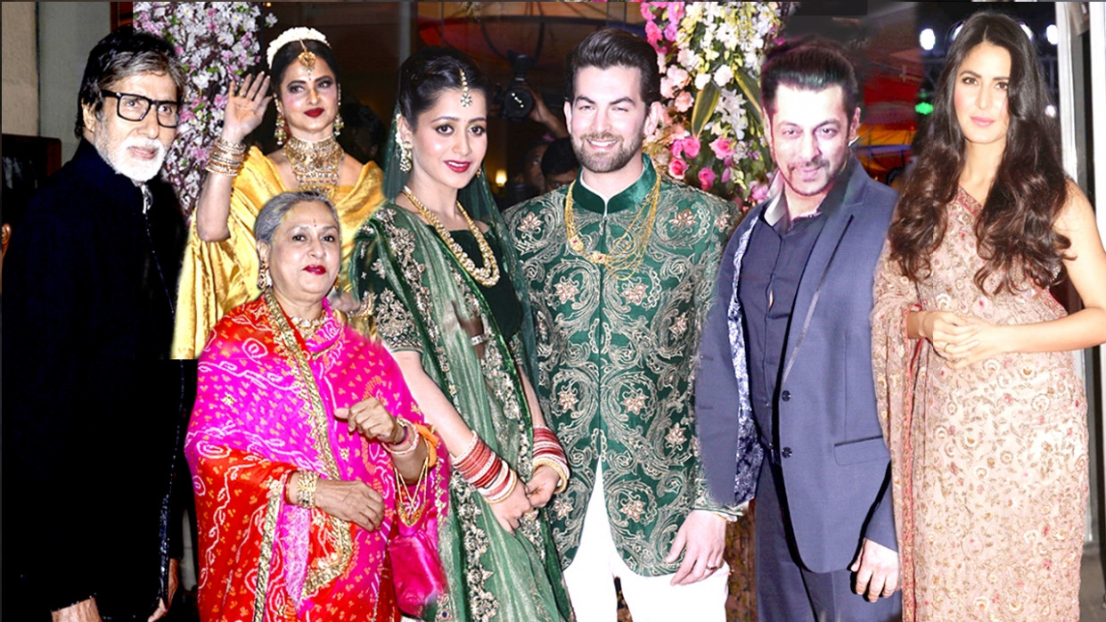 Bollywood Celebs Neil Nitin Mukesh WEDDING Reception 2017 ...