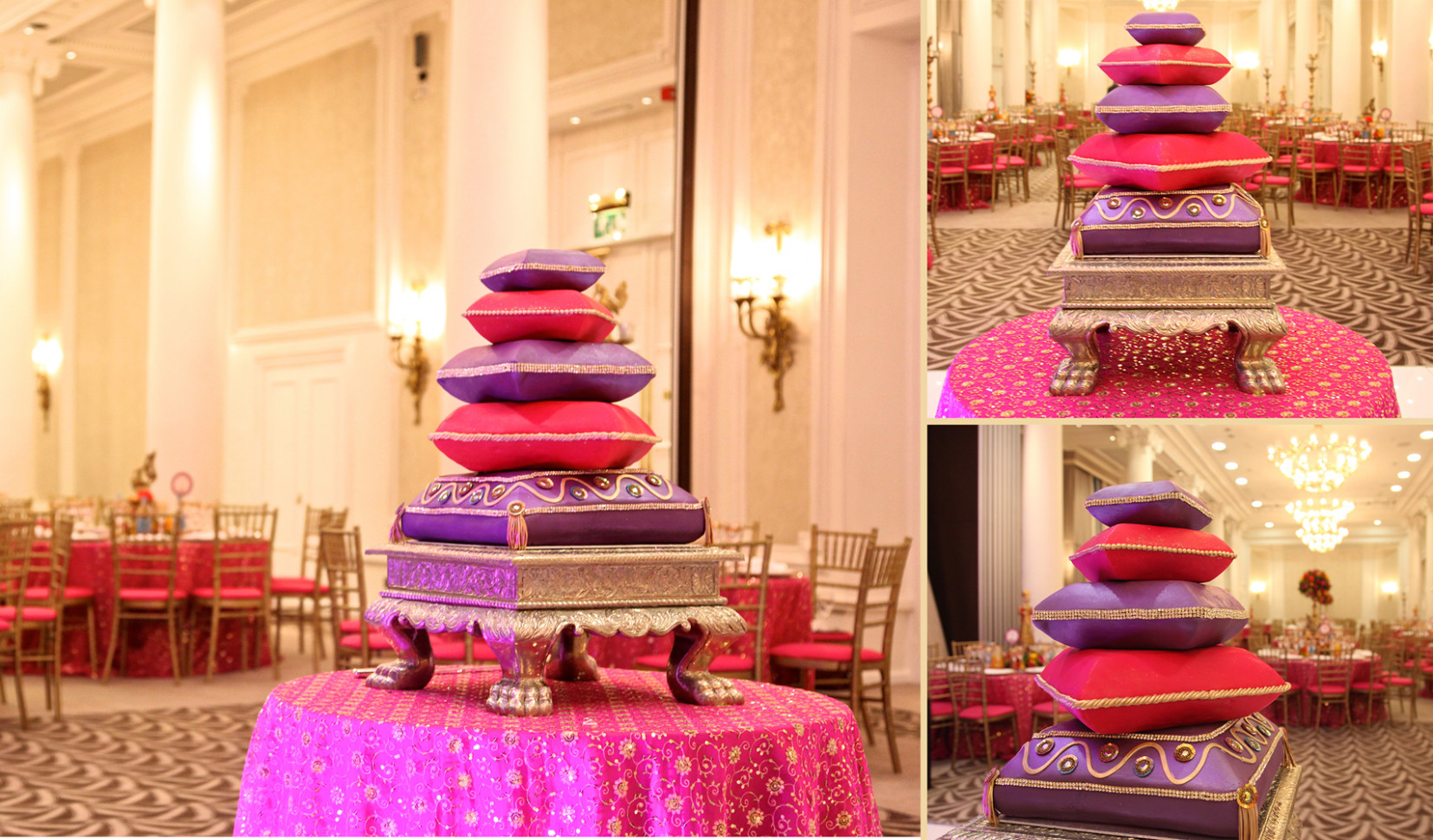 Bollywood Cushion Wedding Cake | Sweet Hollywood