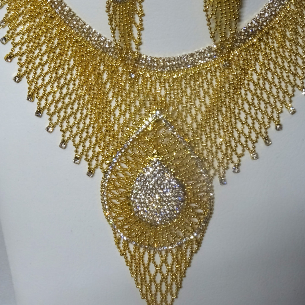 Bollywood Elaborate Bling Party Jewellery Necklace Bridal ...