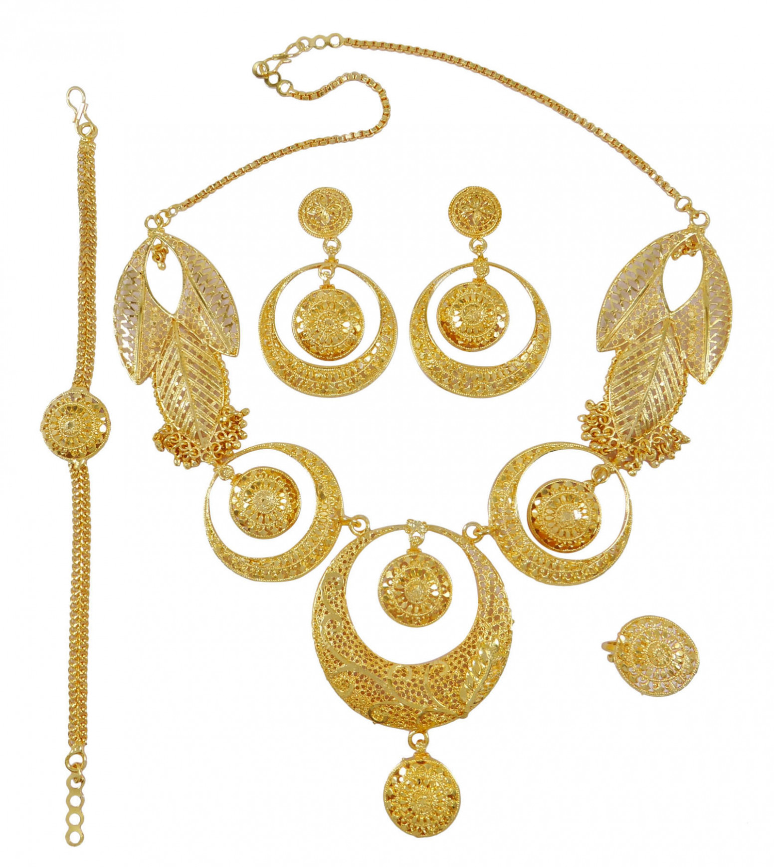 Bollywood Ethnic Bridal Necklace Earrings