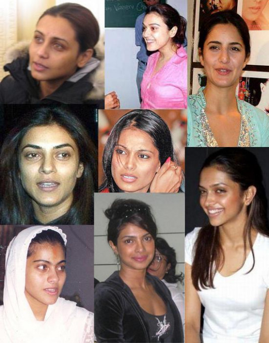 Bollywood Funny Actresses In Without Makeup Picture
