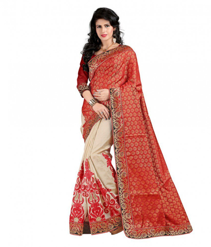 Bollywood Gallery Red Silk Saree - Buy Bollywood Gallery ...