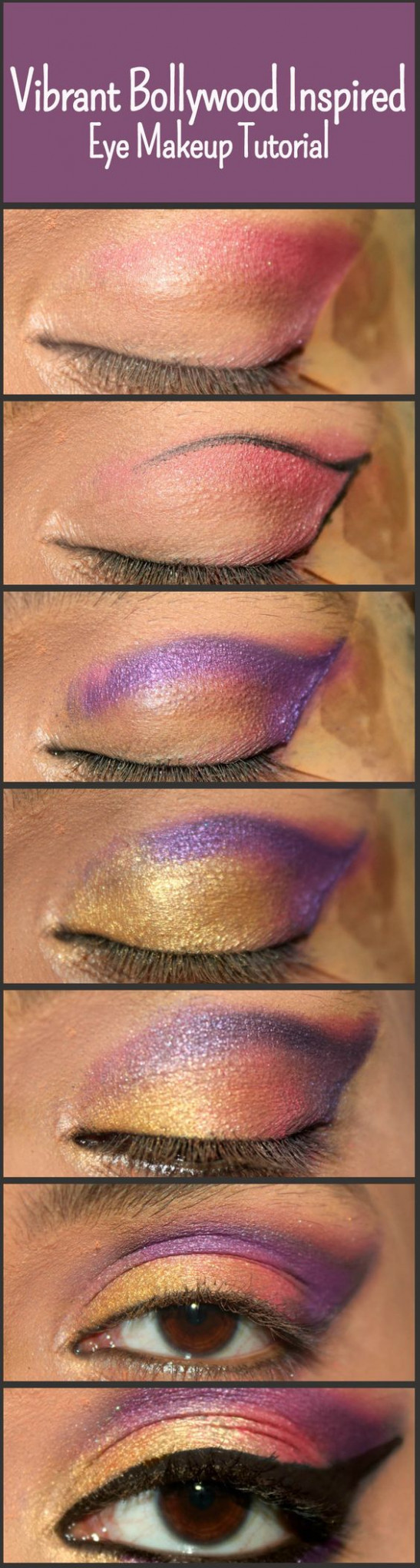 Bollywood Inspired Eye Makeup – Step By Step Tutorial With ...