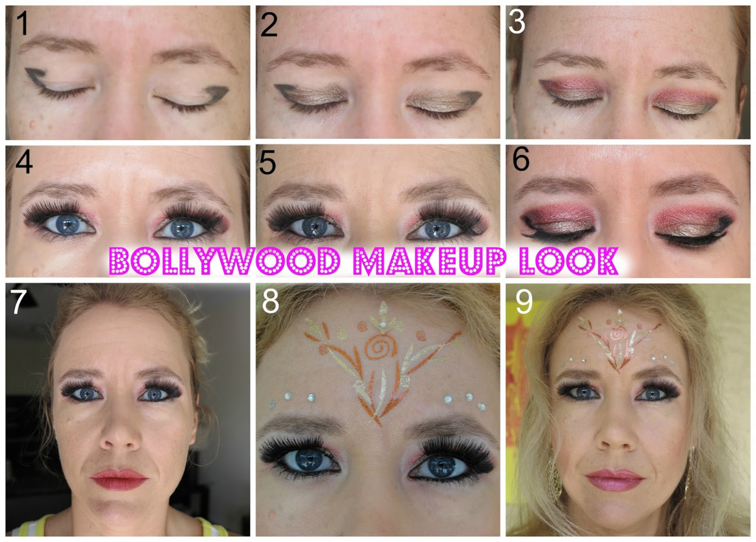BOLLYWOOD INSPIRED MAKEUP LOOK! - bollywood eye makeup tutorial